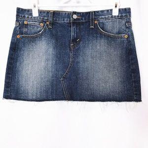 Levi's Jeans Woman's Blue Jean Mini Skirt Size 8